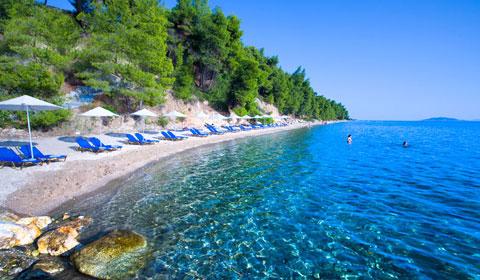 Почивка в Гърция през м.Май и м.Юни! 3 нощувки със закуски и вечери в луксозния Хотел Athena Palace 5*, Ситония!
