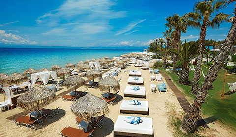 През Юни: 3 нощувки със закуски и вечери в луксозния хотел Ilio Mare 5*, о.Тасос, Гърция!