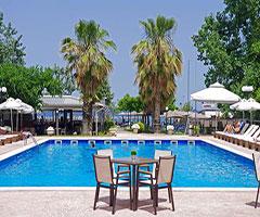 5 нощувки със закуски и вечери в хотел Sun Beach Platamonas 3*, Олимпийска Ривиера, Гърция през Юли и Август! Дете до 11.99г. - безплатно!